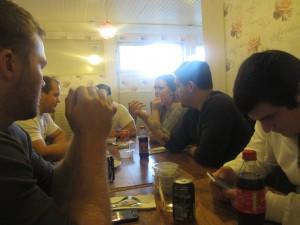 Micke, Adam, John, Marie, Dejan och Mehmet